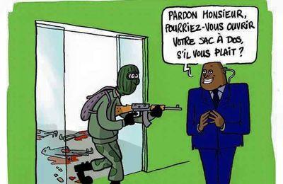Utilités des agents de sécurité aux portes des magasins: Un dessin très parlant ! (Humour)