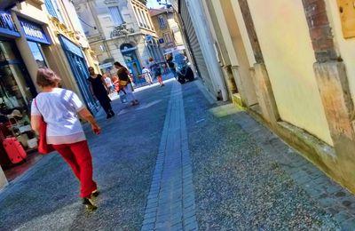 Rue de Colmar, cet après-midi..