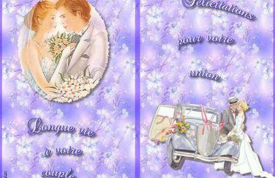 Carte félicitations mariage gratuite à imprimer.