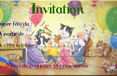 Invitation anniversaire à imprimer
