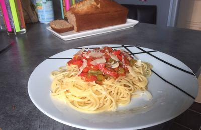 Spaghetti sauce tomate et poivron