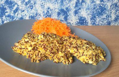 Galettes de boulghour quinoa au poulet et au Bleu d'Auvergne
