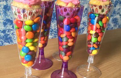 Cupcakes framboise coco et chocolat blanc