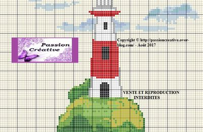 Grille gratuite point de croix : Phare 2017