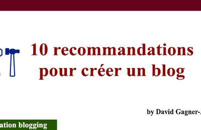 Formation blogging : 10 recommandations pour créer un blog à succès