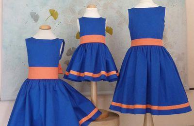 cortège Emmanuelle bleu et orange