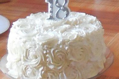 Rose cake, génoise et crème au citron