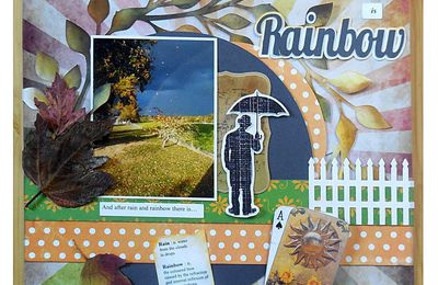 Scrap : Page Rainbow - Arc-en-ciel