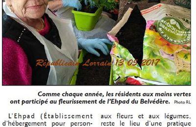 Jardinage à l'EHPAD d'Algrange