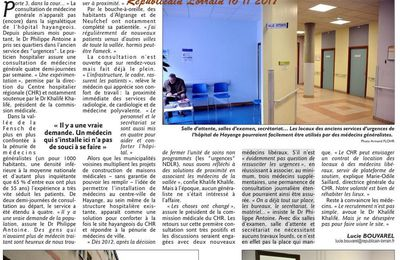 Plus de médecin à Algrange ?maison médicale ! Suite au 16 11 2017