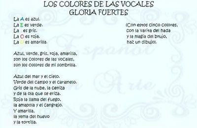 Los colores de las vocales (Gloria Fuertes)