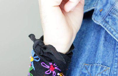 DIY un bracelet brodé