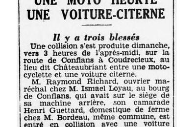Accident de mon arrière-grand-père, Henri GAUTIER, en 1935