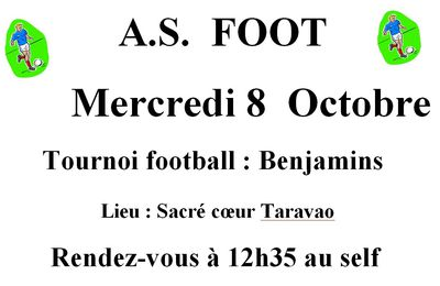 TOURNOI de FOOTBALL (8 ocotbre 2014)