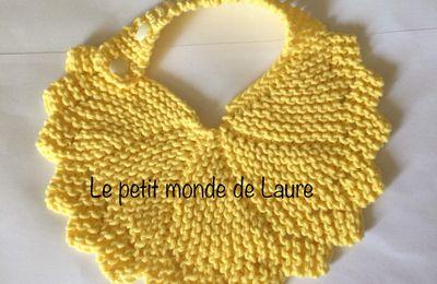 Bavoir au tricot