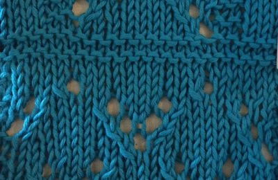 Point de tricot , point ajouré 1