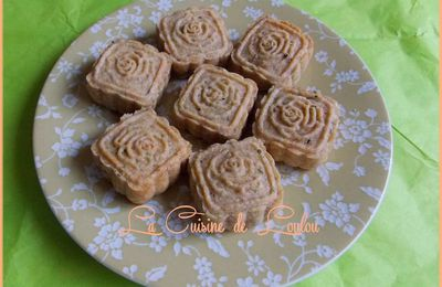 Mooncakes à la crème de graines courge et fraises