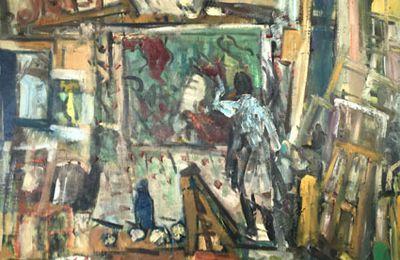 Le peintre dans son atelier   73 x 60cm   Huile sur toile