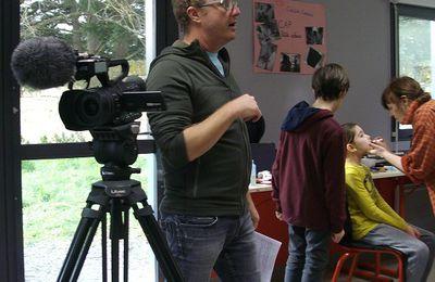 Le tournage à la M.F.R.  de Bourgueil