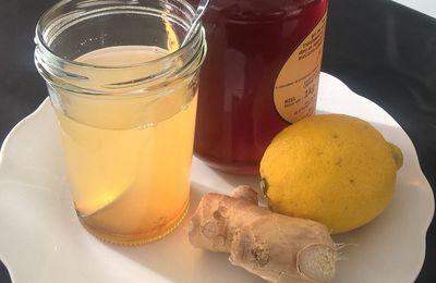 Hiver : tisane citron gingembre et miel