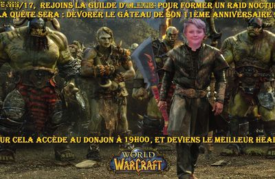 Invitation 11 ans Mini loup : World of Warcraft