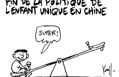 Fin de l'enfant unique en Chine (par Kroll)