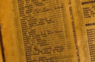 Annuaire des entreprises et commerçants Brassac les Mines 1950