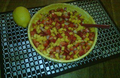Salade salsa de mangue à la fraise