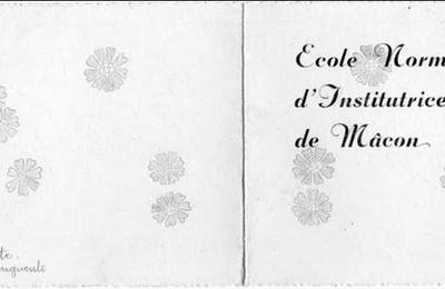École Normale d'Institutrices : promotion 1937-1940 à Mâcon (71)