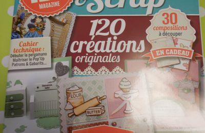 Mon article dans le Créas cartes & scrap N°4