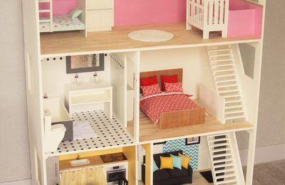 maison de barbie 1 la conception et la construction les petites folies d 39 alice balice. Black Bedroom Furniture Sets. Home Design Ideas