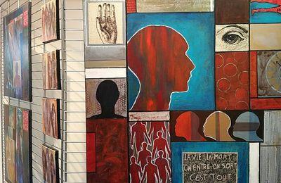 Titouan LAMAZOU Prix Méditerranée du livre d'Art 2017 - Expo PASSAGES au BOULOU : Pat ROMERO, etc  -  ITINERAIRE roman par Guillaume LAGNEL : St-Papoul, Limoux - EXPO au MUME