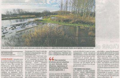 Article de la Voix du Nord : Maison de la Nature et de l'Environnement