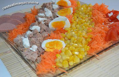 Salade toute pleine de couleurs