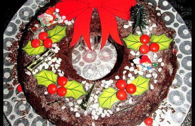 .. Gâteau couronne goûter de Noel ..