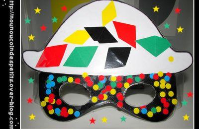 .. Masque Arlequin Carnaval ..