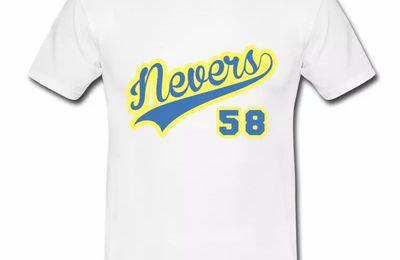 T Shirt Bourgogne blanc hommes Nevers département 58 II