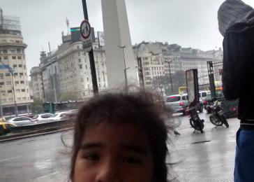 Con Zoe Micaela en Buenos Aires