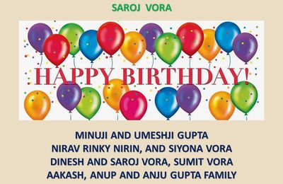 CELEBRATION HAPPY BIRTHDAY 2016 SAROJ   - DINESH VORA