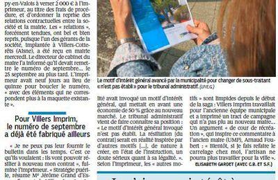 Dans le journal du Parisien, le tribunal administratif condamne la ville et le maire B Fortier