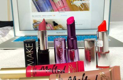 Top 5 rouges à lèvres édition summer