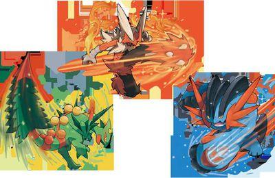 Les trois premier Pokémon en leur puissance MAX
