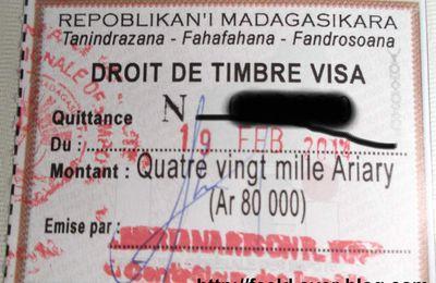 visa d'entrée et de séjour à Madagascar