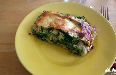 Recette : Lasagnes saumon épinards