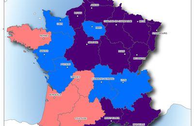 Elections régionales 2015 : la synthèse en carte