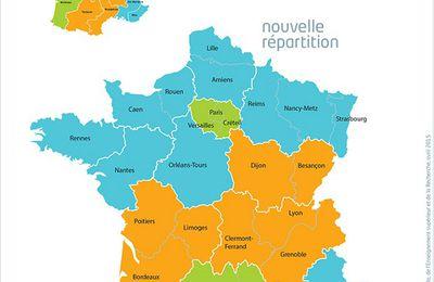 Carte de France des zones et dates de vacances scolaires 2016-2017