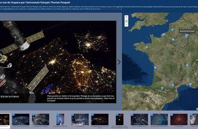 Une carte de France vue de l'espace par Thomas Pesquet