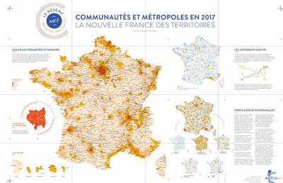 Carte de France grand format et gratuite de l'intercommunalité