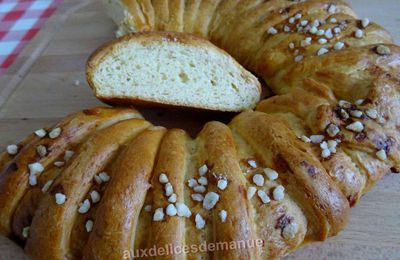 Couronne de pain brioché à l'extrait d'orange