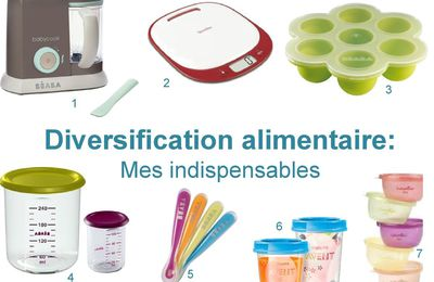 Diversification alimentaire, mes indispensables